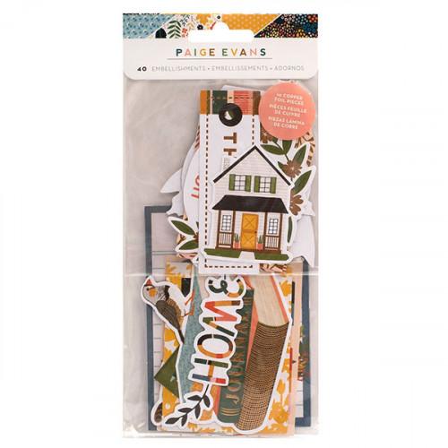 Bungalow Lane Découpes en papier Ephemera 40 pcs