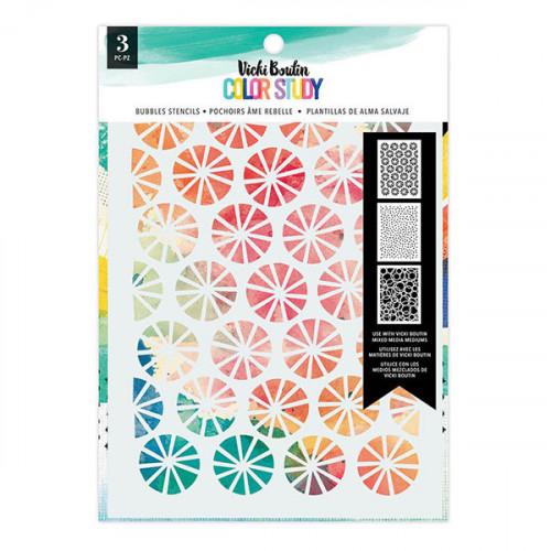 Color Study Pochoir Bubbles 3 pcs