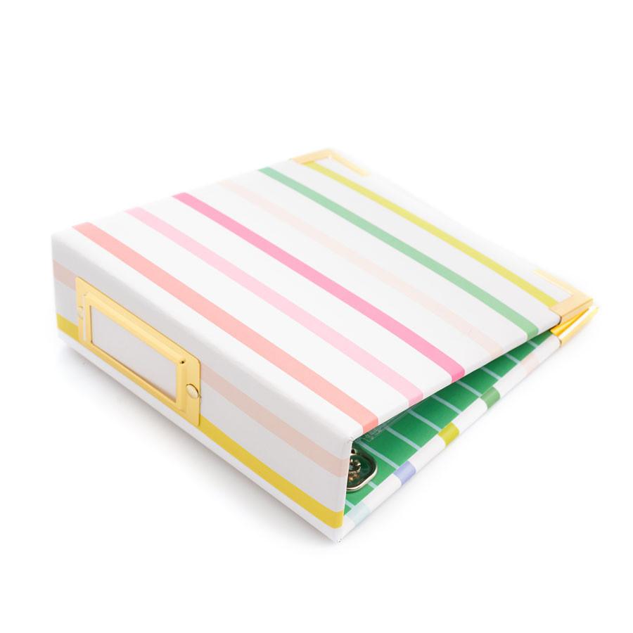 Album à 2 anneaux Paper Wrapped 10,2 x 10,2 cm Striped