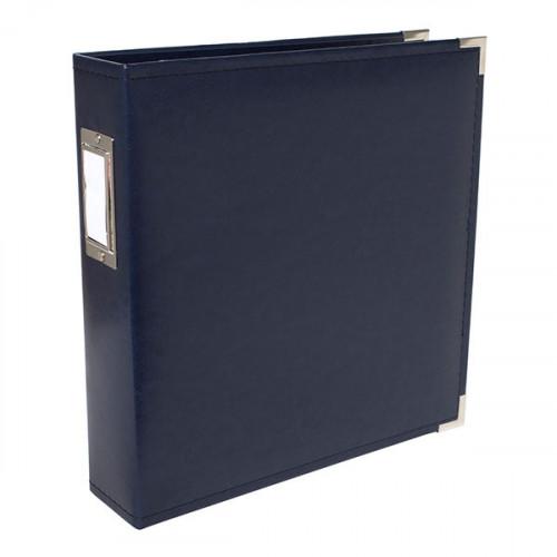 Album à 3 anneaux Classic Leather 21 x 29,7 cm Navy