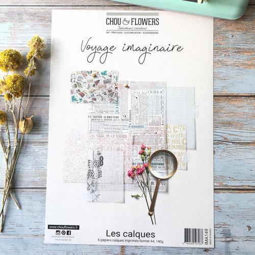 Voyage imaginaire Assortiment de papiers calque A4