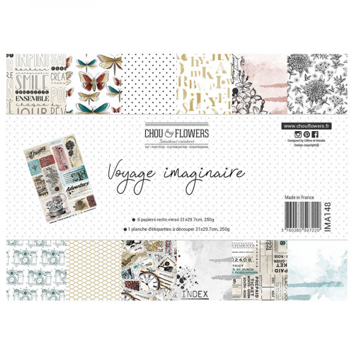 Voyage imaginaire Assortiment de papiers A4