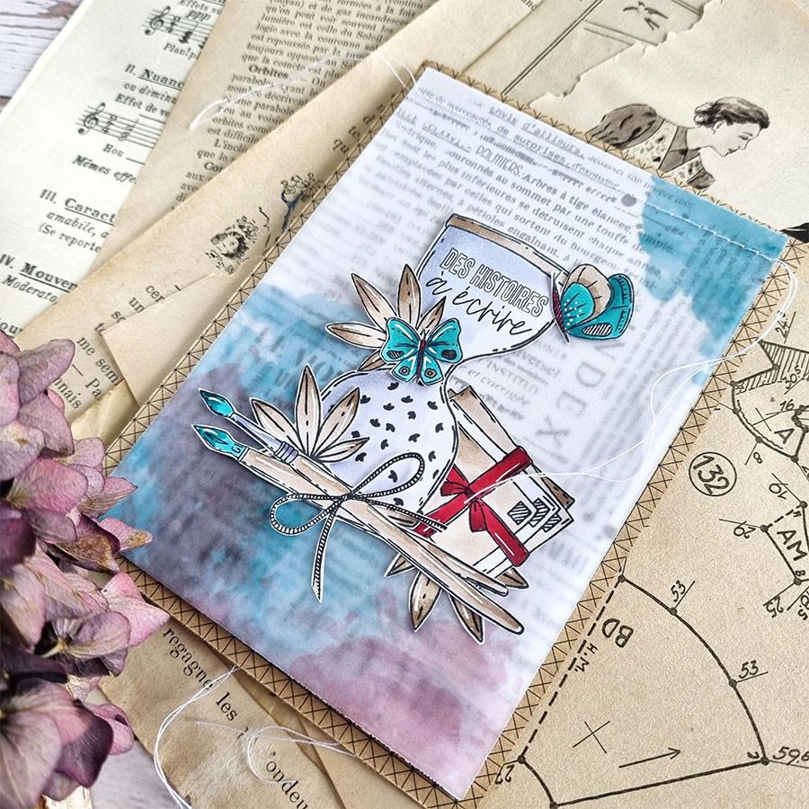 Voyage imaginaire Assortiment de papiers calque aquarelle A4