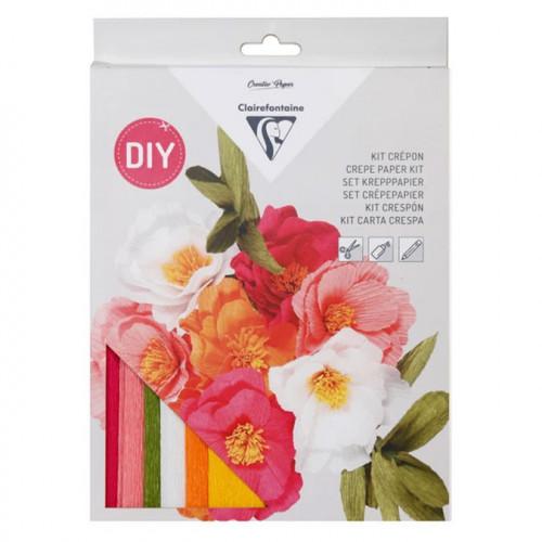 Kit papier crépon Bouquet de fleurs