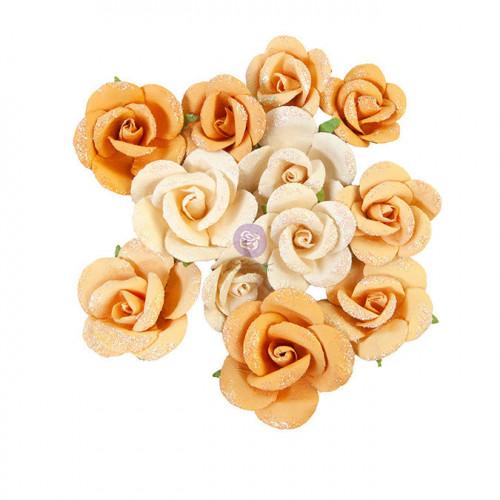 Fleur en papier Diamond Rising Fire 12 pcs
