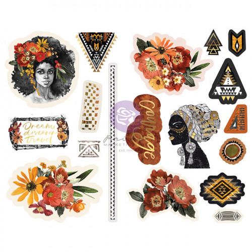 Chipboard Stickers Diamond Ephemera 18 pcs