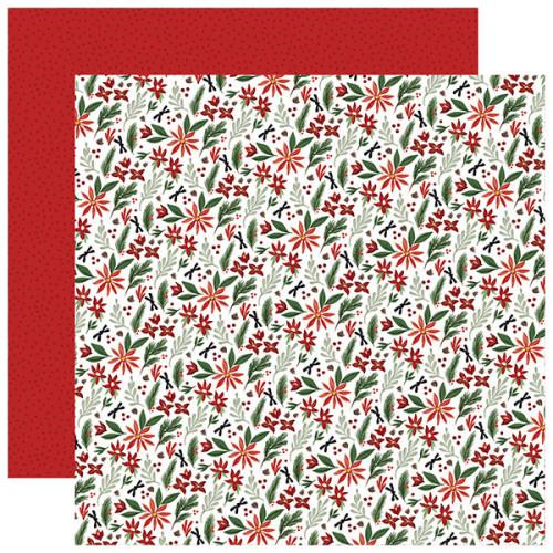 Home For Christmas Papier imprimé Christmas Farm Floral