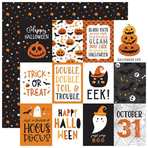 Halloween Party Papier imprimé 3x4 Journaling Cards
