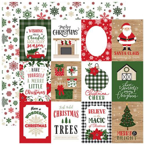 Jingle All The Way Papier imprimé 3x4 Journaling Cards