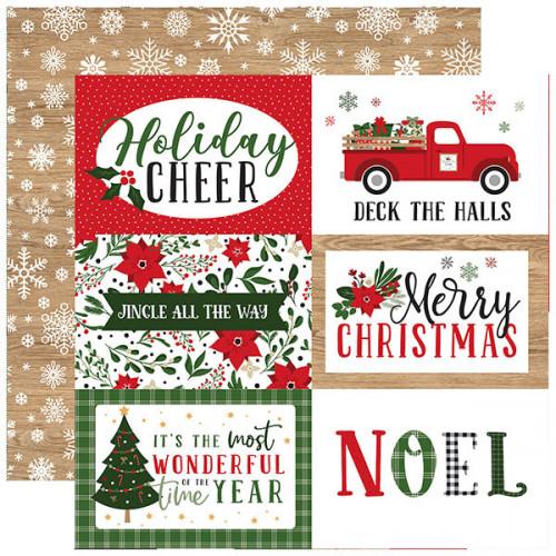 Jingle All The Way Papier imprimé 6x4 Journaling Cards