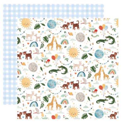 Welcome Baby Boy Papier imprimé Animals