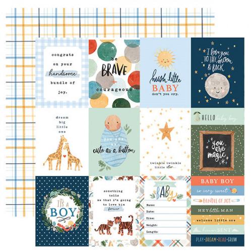 Welcome Baby Boy Papier imprimé Journaling Cards #1