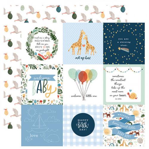 Welcome Baby Boy Papier imprimé Journaling Cards #2