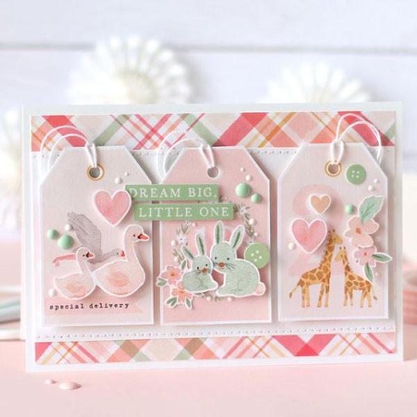Welcome Baby Girl Papier imprimé Bundle of Joy
