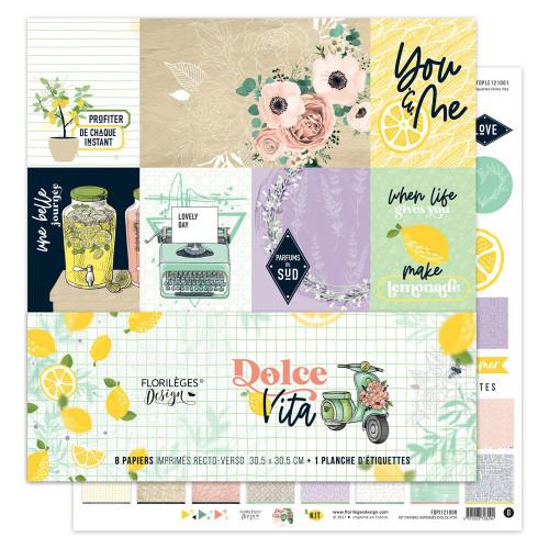 Dolce Vita Kit papiers imprimés 30 x 30 cm