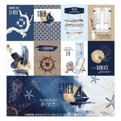 Kit 8 papiers imprimés Vue sur mer