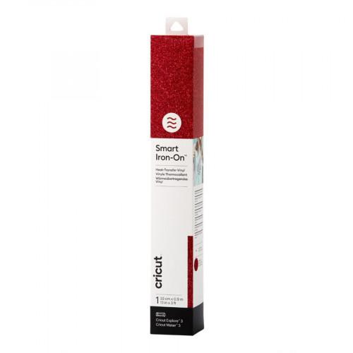 Thermocollant Smart Iron-On pailleté 33 x 91 cm Rouge