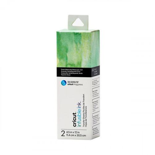 Feuilles de transfert Infusible Ink 2 feuilles de 11,4 x 30,5 cm Green watercolor