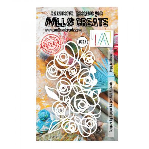 Pochoir #127 Roses in Bloom 10 x 15 cm
