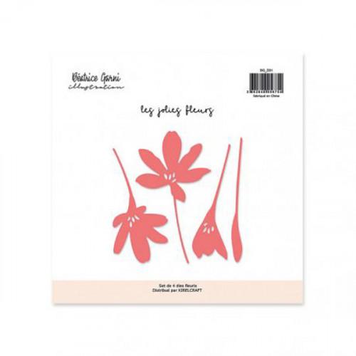 Dies set Les jolies fleurs 4 pcs