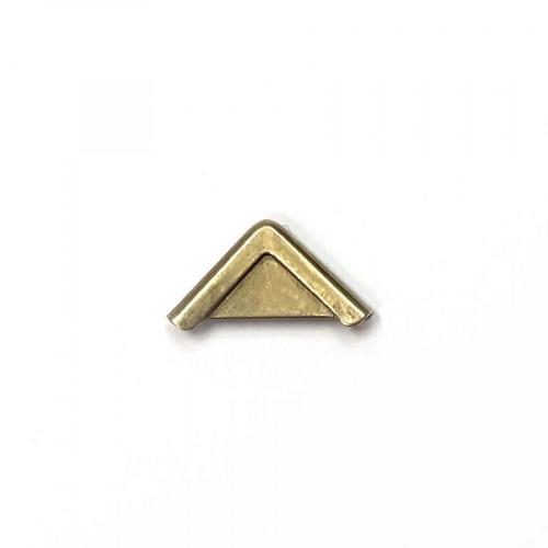 Coin métal droit bronze doré