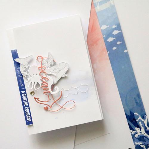 Papier 30,5 x 30,5 cm Collection À contre courant 6 feuilles