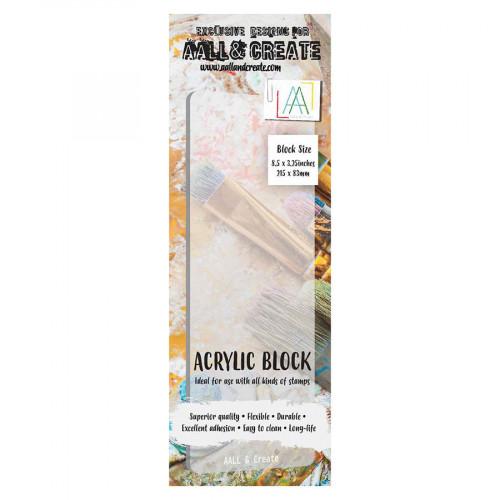 Bloc acrylique flexible 21,5 x 8,3 cm ep. 2mm