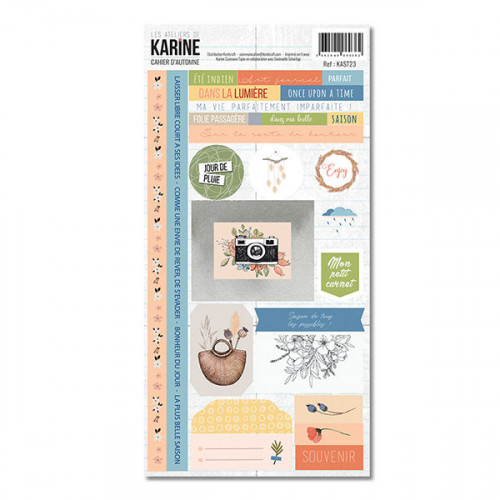 Cahier d'Automne Stickers assortis