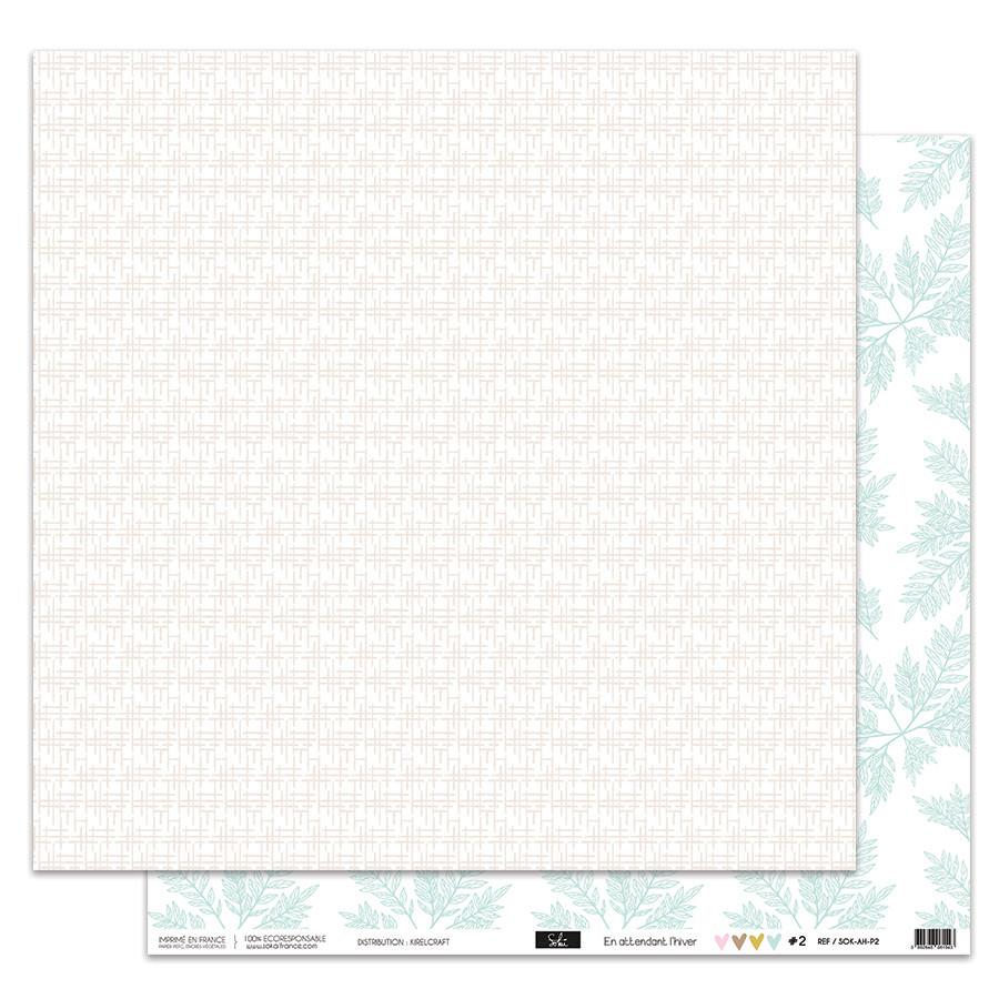 Papier imprimé En attendant l'hiver papier 30,5 x 30,5 cm #1