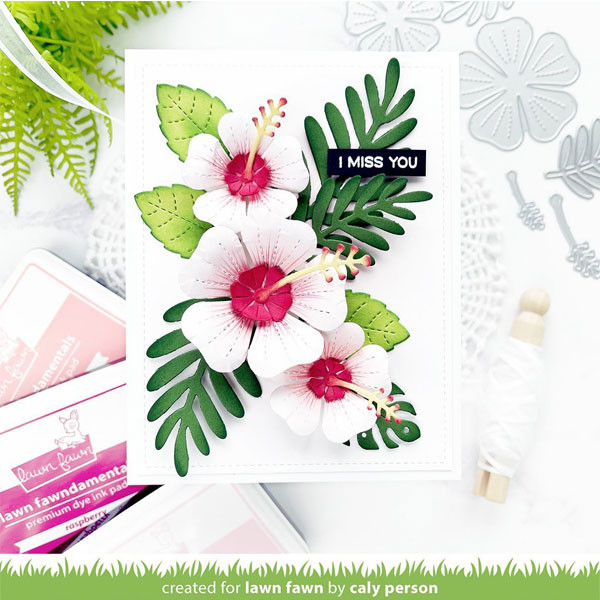 Dies set Hibiscus 8 pcs
