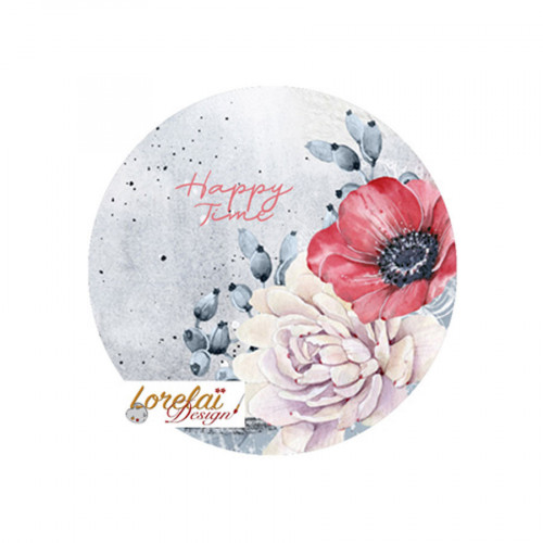 A contre courant Badges Happy time 38 mm