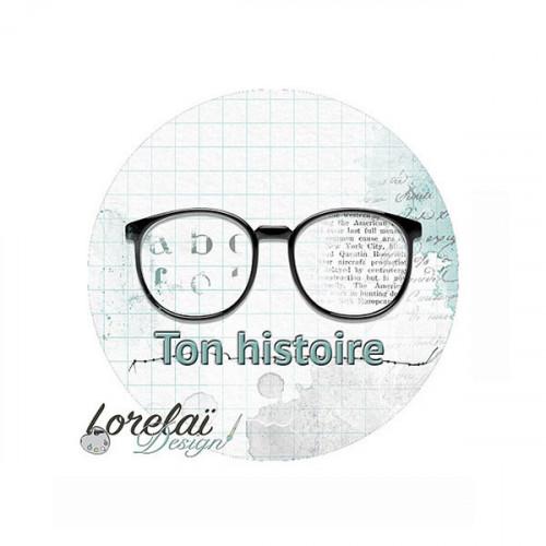 Memento Badge Ton histoire 38 mm