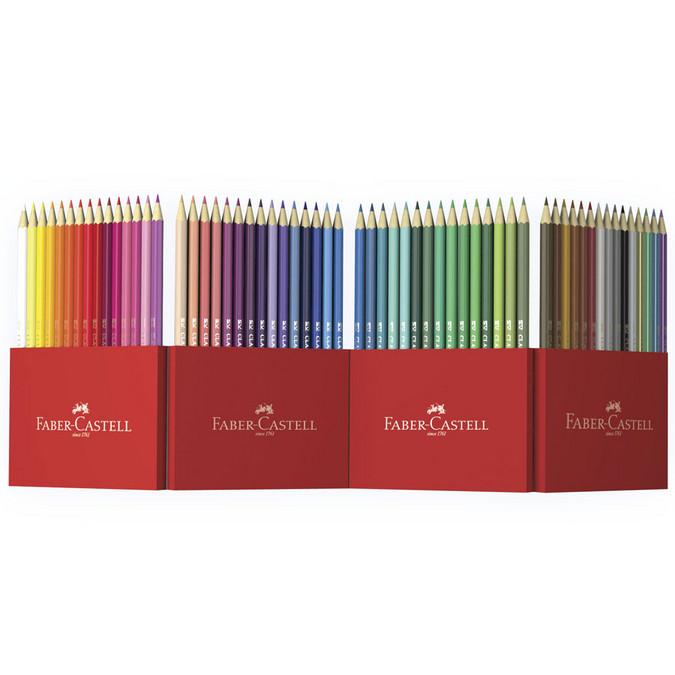 Crayon de couleur Château accordéon - 60 pcs