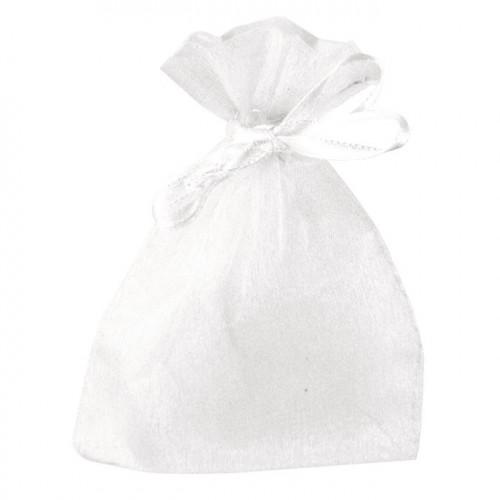 Sachet en organdi Blanc 7,5 x 10 cm