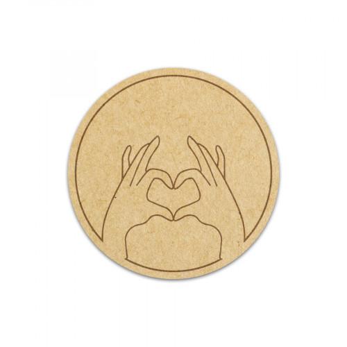 Cachet cœur 4 x 4 cm