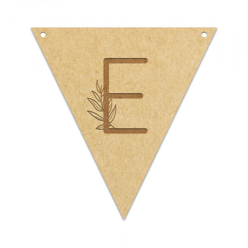 Fanion Lettre E 11,5 x 12 cm