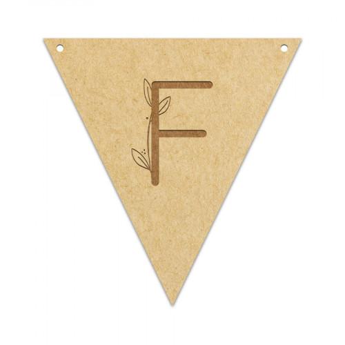 Fanion Lettre F 11,5 x 12 cm