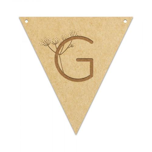 Fanion Lettre G 11,5 x 12 cm