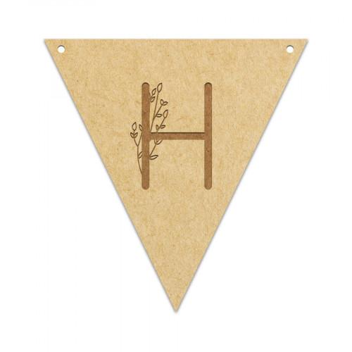 Fanion Lettre H 11,5 x 12 cm