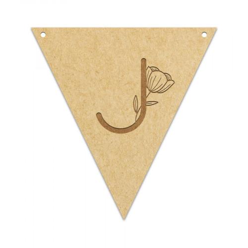 Fanion Lettre J 11,5 x 12 cm
