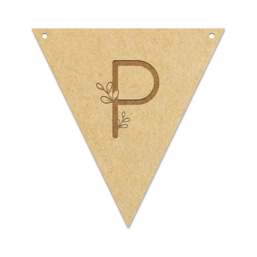 Fanion Lettre P 11,5 x 12 cm