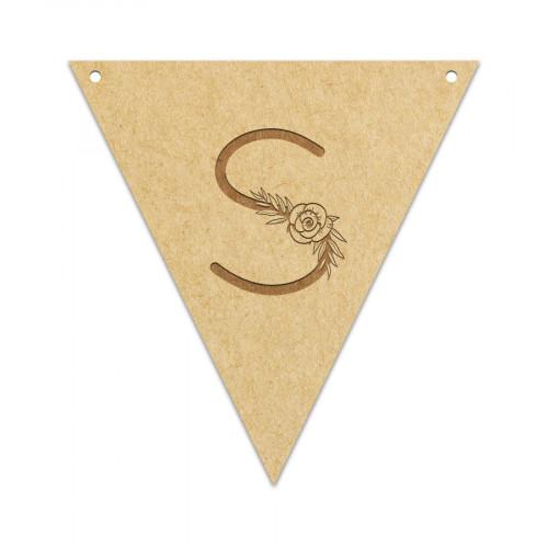 Fanion Lettre S 11,5 x 12 cm