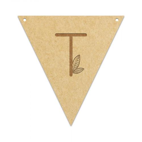 Fanion Lettre T 11,5 x 12 cm