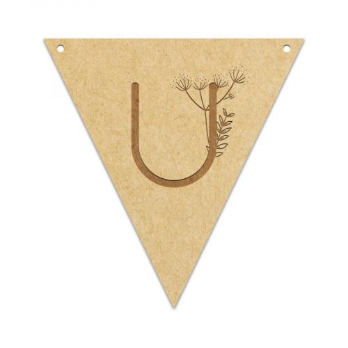 Fanion Lettre U 11,5 x 12 cm