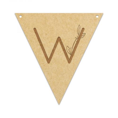 Fanion Lettre W 11,5 x 12 cm