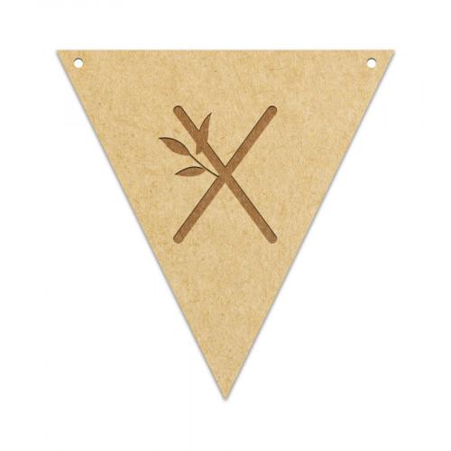 Fanion Lettre X 11,5 x 12 cm