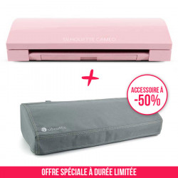 Pack Cameo 3 rose et sa housse grise