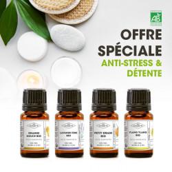 Offre spéciale anti-stress et détente - 4 huiles essentielles
