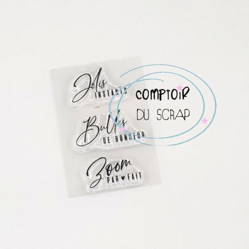 Tampons transparents Jolis instants - 3 pcs
