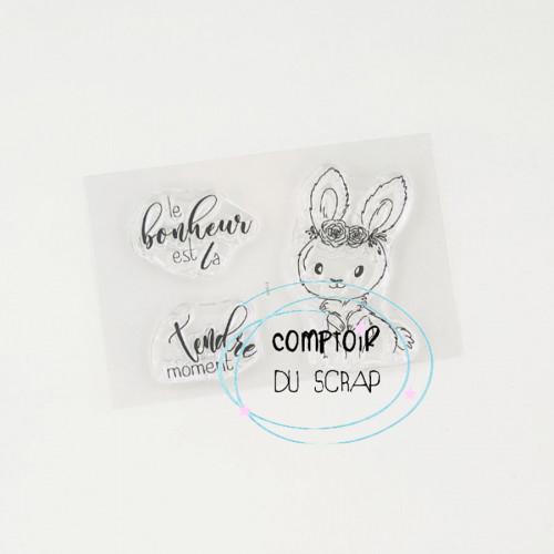 Tampons transparents Lapin - 3 pcs